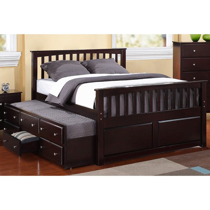 Best Full Size 3 Drawer Captain Bed With Twin Trundle 400 x 300