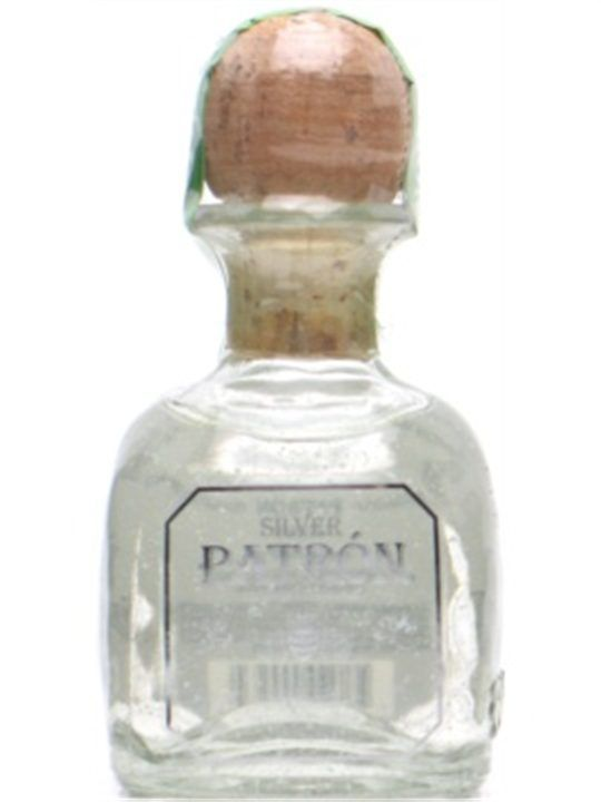 Patron Silver Tequila Miniature : Buy Online - The Whisky Exchange - A mini bottle of Patron Silver tequila #drinks