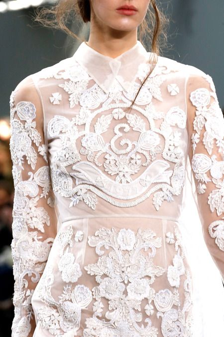 Lace wedding dress, Erdem | Spring 2014 Ready-to-Wear Collection | Style.comWhat style is your dream wedding dress? Photographed: Erdem Spring Collection lace wedding dress