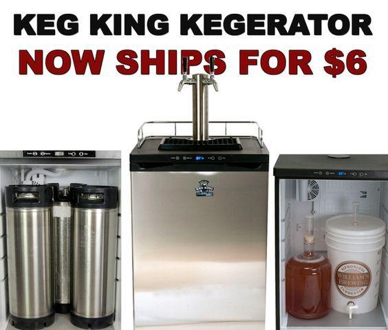 New Keg King Kegerator Ships for Just $6.99 #homebrew #keg #fridge #kegerator