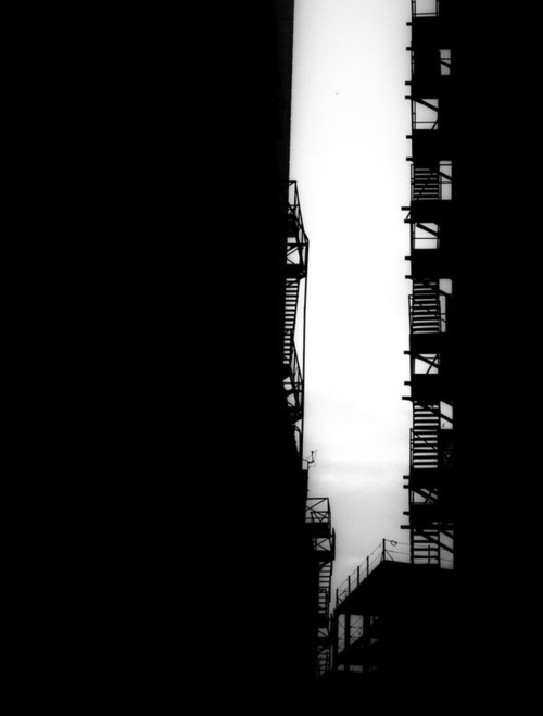 alley and fire escapes