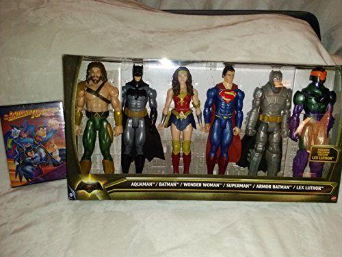 Official Batman Vs Superman Toy Set: Six Figures Aquaman Batman Wonder Woman Superman Armor Batm @ niftywarehouse.com #NiftyWarehouse #DC #Comics #ComicBooks #WonderWoman #SuperHeroes