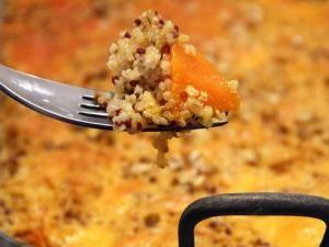 Gratin de butternut au quinoa et cheddar • Hellocoton.fr