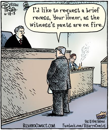 Funny | Liar Liar Pants on Fire! | From Bizaro Comics