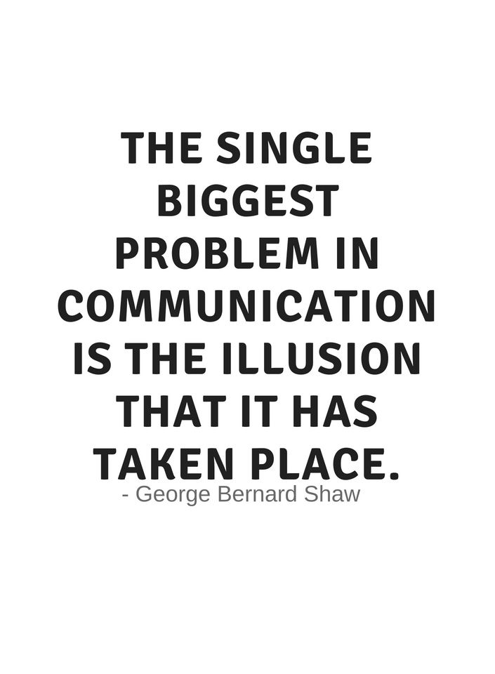 Communication quotes for work The single biggest problem in