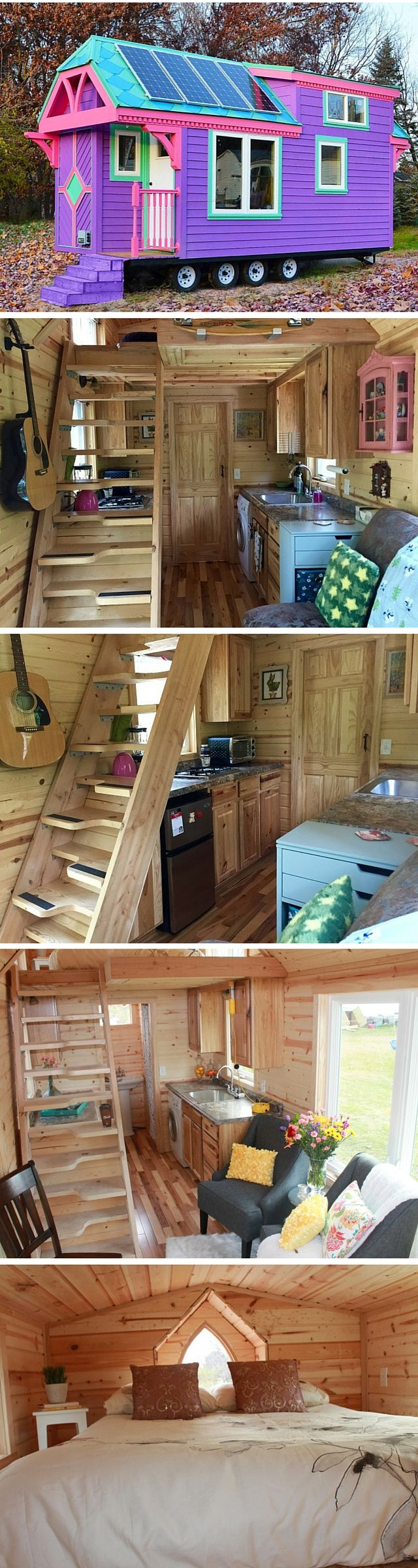 The Ravenlore: a 240 sq ft tiny house -- Ooooh, I love the exterior of this one!!! My husband and I should get side-by-side tiny houses. Then I won't have to hear him snore. :) Tjis will be mine and his can be solid black.