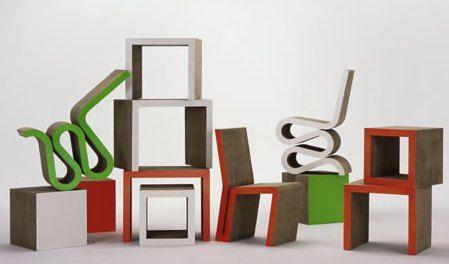 Ecología y diseño: muebles de cartón / Ecologie et design: meubles en carton / Ecology and design: cardboard furniture