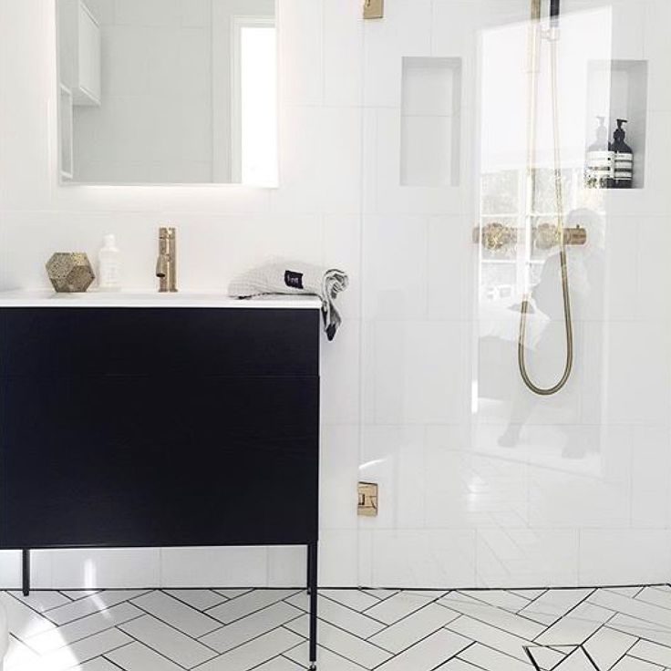 Pic from the Swedish company Moderna Bad. Swoon Side Vanity Unit. Black ash & brass.