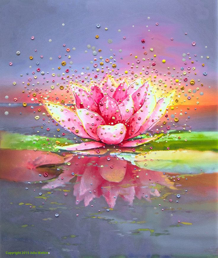 Image of Pink Lotus Energy Painting - Giclee Print Another beautiful print of Julia Watkins...we have this print