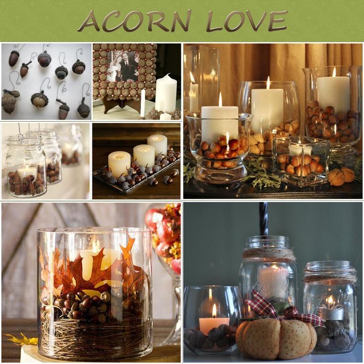 The 95 best images about acorn decorations on pinterest for Acorn decoration ideas