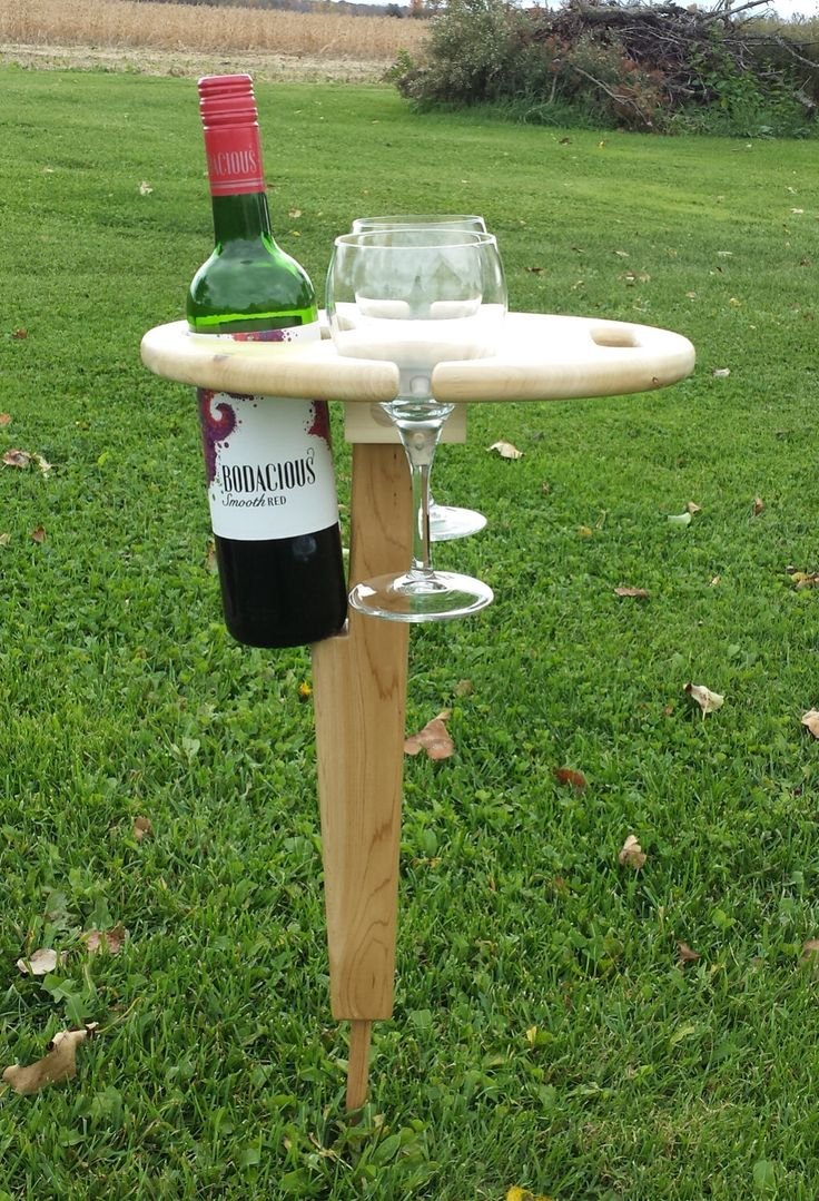 Outdoor Cedar Wine Table, Outdoor Table, Wine Accessory, Wine Accessories, Gift Idea by 8thLineCreations on Etsy https://www.etsy.com/listing/234909264/outdoor-cedar-wine-table-outdoor-table