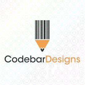 Exclusive Customizable Pencil Logo For Sale: Codebar Designs | StockLogos.com