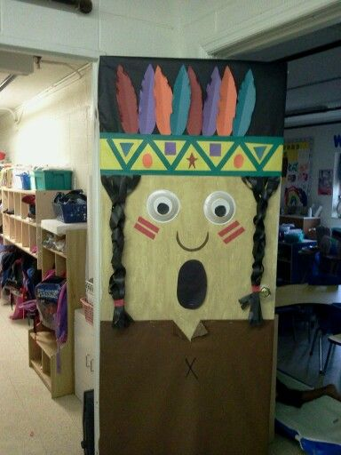 Indian boy classroom door idea