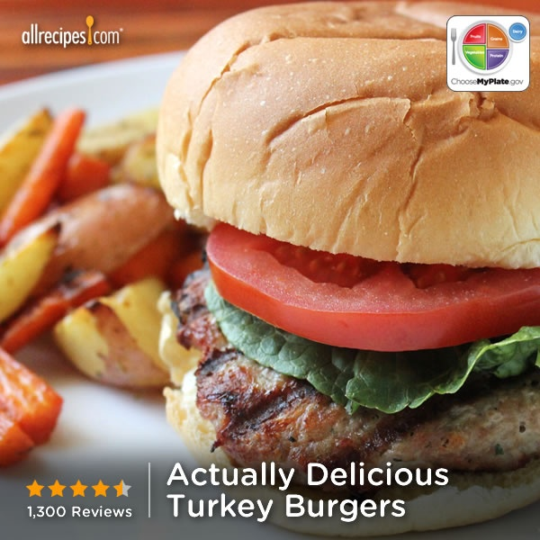 Actually Delicious Turkey Burgers from Allrecipes.com #protein # ...