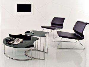 Tavolini estraibili moderni in vetro SOFÀ Compar