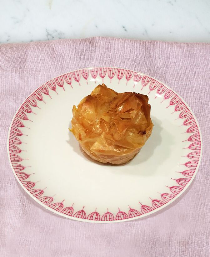 Mini custard filo pastries - my take on the traditional Greek dish 'galaktoboureko' from my latest show Rachel Khoo's Kitchen Notebook #RKKNM