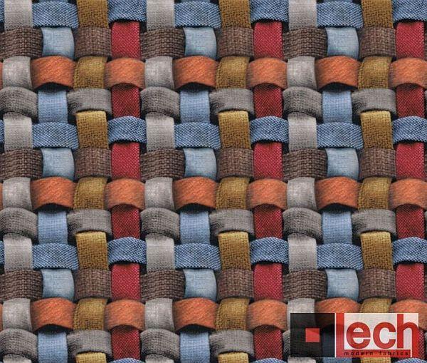 Bardzo kolorowy NET!!! Tkaniny z nadrukiem ultramodnej plecionki ożywią każdy mebel tapicerowany.  #moder #fabrics  #tkanina #nadruk #3D Wiece wzorów na http://www.lech-tkaniny.pl/oferta/nadruk-tkanin/net/