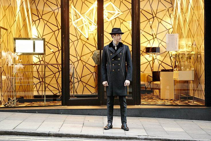 The first thing you see when you arrive at Quaglino's is the Doorman in his fine overcoat. This uniform was wonderful to work on using only the finest British fabrics and Tailors