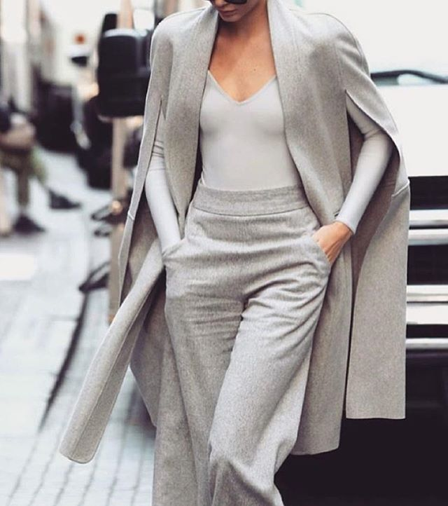 Street style via @aceofstyle all grey