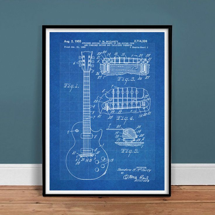 Best 25 us patent ideas on pinterest man shed blueprints gibson les paul guitar us patent print 18x24 poster vintage repro new gift 1950s malvernweather Choice Image