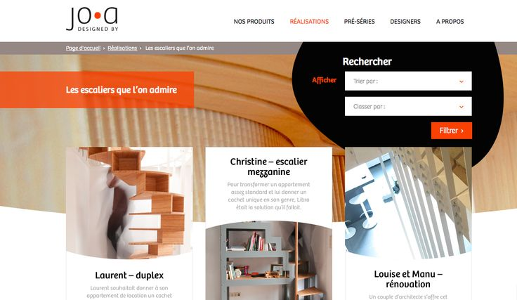 Vitrine web pour des designers de talent. Avec en plus une newsletter pour des architectes et un dossier de presse.