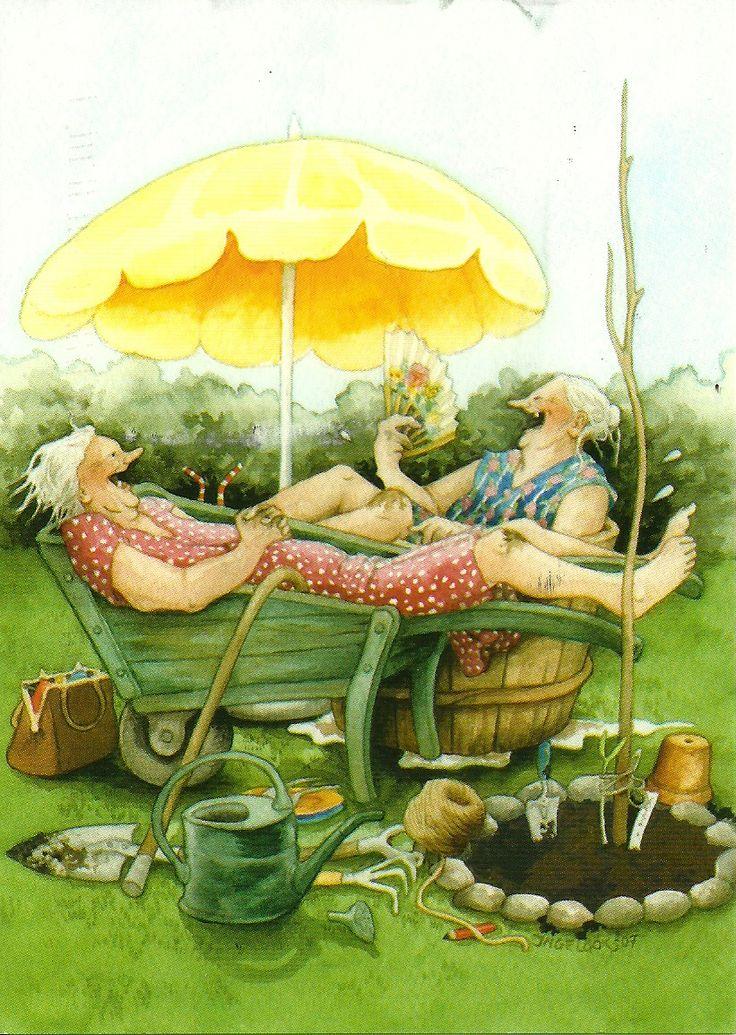 Старушки веселые открытки