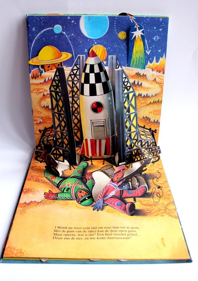 De maanraket - illustraties van Vojtěch Kubašta