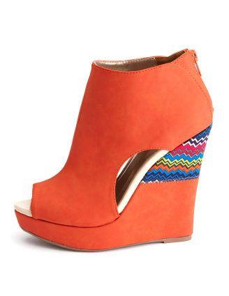 wedge shoes: Orange Wedges, Orange Shoes, Summer Shoes, Cute Wedges, Shoess Beautiful, Wedges Shoes, Coral Shoes, Cutout Wedges, Summer Wedges