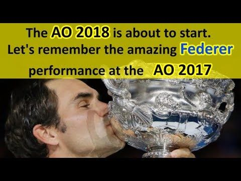 The AO 2018 is about to start ➖ Let's remember the amazing Federer per...