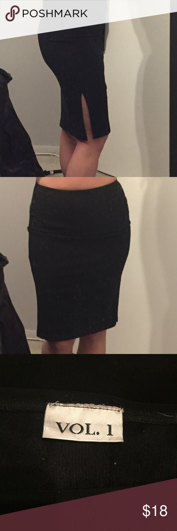 Pencil skirt with slits Elastic waist pencil skirt with slits on both sides Skirts Pencil