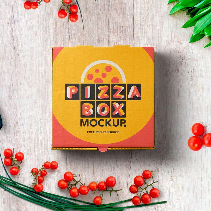 Mockup Packaging Caja Pizza Psd
