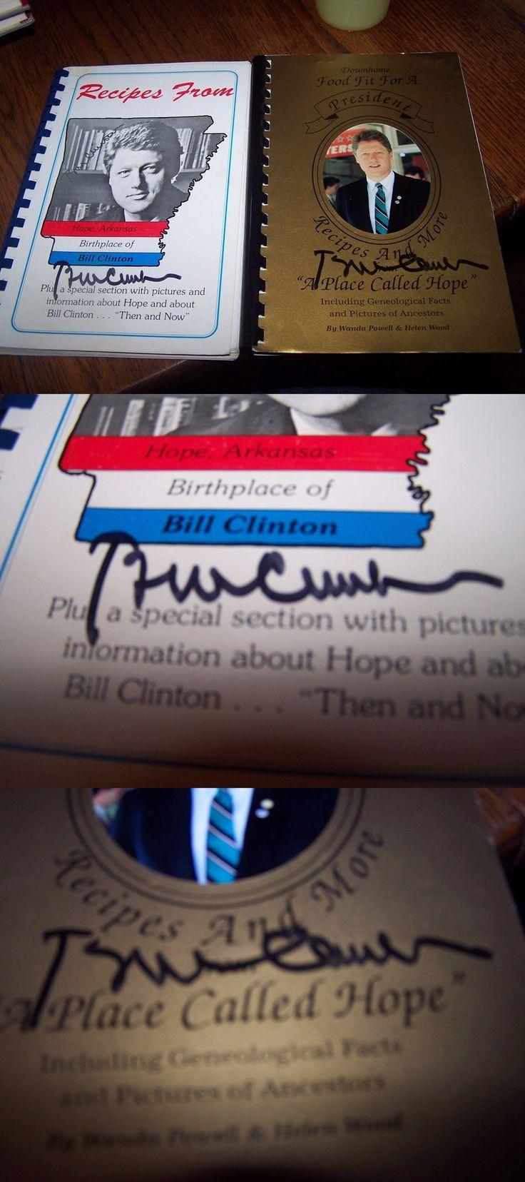 Bill clinton signed bill clinton cookbook recipes from hope arkansas buy it