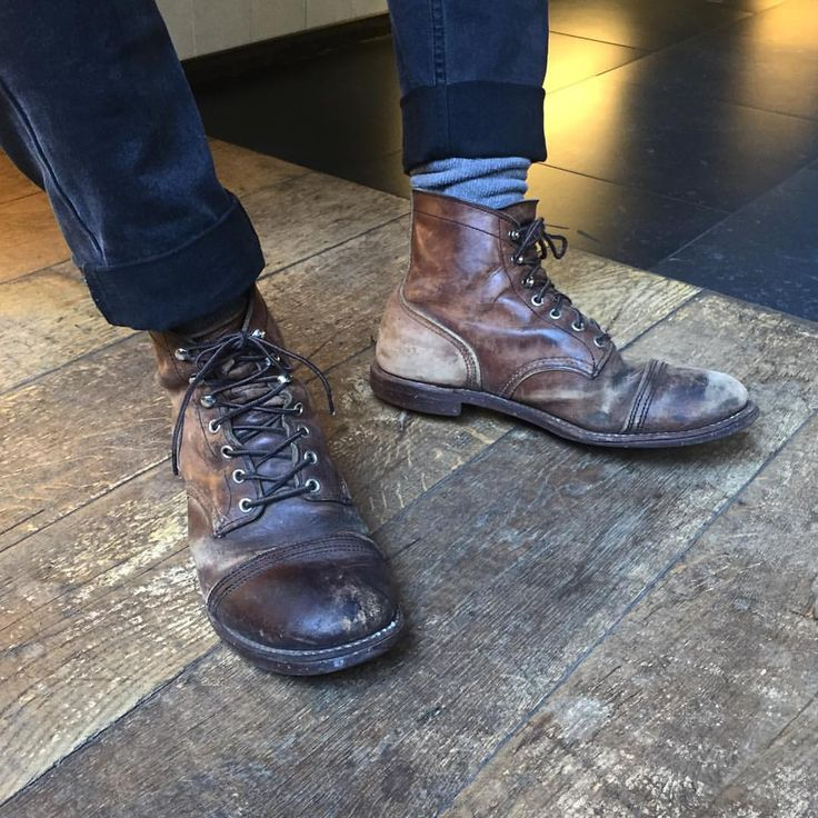 Iron Ranger Tuesday! Worn Red Wing Shoes never get old! Do you've got a pair of Red Wing Shoes 8111 Iron Ranger in Amber Harness? Please share by using @redwingamsterdam #myironrangers | www.redwingamsterdam.com |