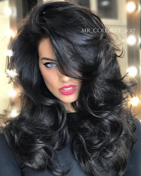 Jet Black #1B Double Weft Hair Extensions