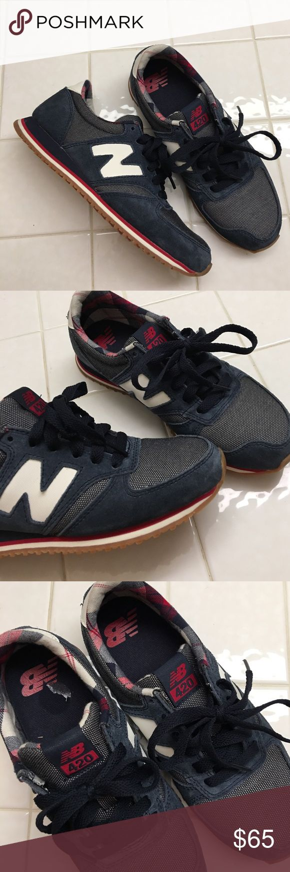 Sneakers (NB 420) Used once or twice but they're a little too small for me. They are a 5.5 and I usually wear a 6.5 but I couldn't resist. I'm still not sure if I want to let them go, send me an offer! New Balance Shoes Sneakers