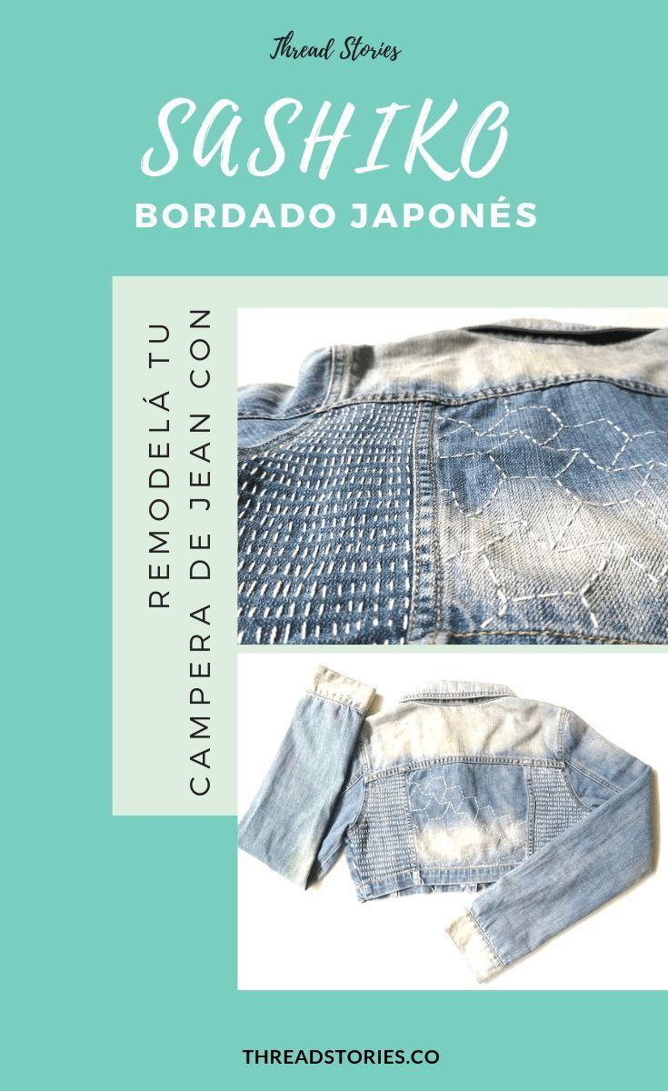 The sustainable challenge: Restyle your denim jacket with DIY Japanese Sashiko Embroidery Ethical Clothing, Ethical Fashion, Jean Bordado, Sashiko Embroidery, Embroidery Thread, Independent Clothing, Fashion Group, Fashion Moda, Slow Fashion