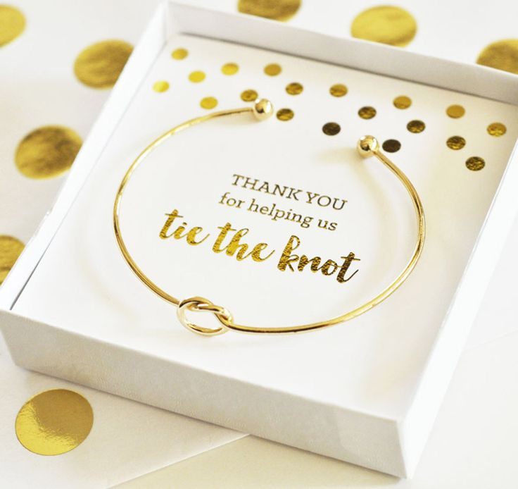 Tie the Knot Bracelet is the perfect gift for your bridal party. This Bridesmaid Bracelet can be worn for the wedding and everyday after.
