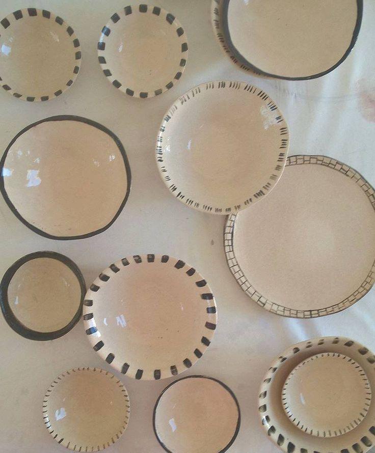 CERAMICS.  Handbuild dinnerware. Ronel Bakker Keramiek