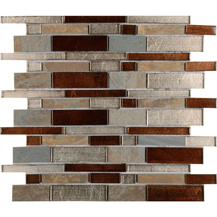 Ms International Urbano Blend Interlocking 12 In X 8 Mm Gl Stone Mesh Mounted Mosaic Tile 10 Sq Ft Case Multi Color