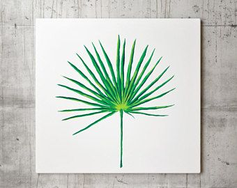 Palmetto Leaf Print, Palmetto Decor, Palmetto Wall Art, Botanical Plant, Tropical Art, Tropical Wall Art, Palmetto Painting, Green Leaf