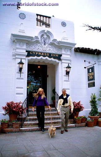 the cypress inn, doris day's hotel in carmel, ca... complete with a dog-friendly restaurant! casual luxury at its best
