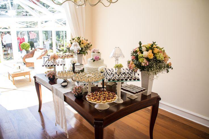 Mesa de doces casamento chanel