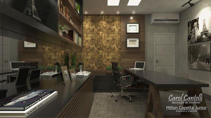Projeto home office por Carol Cantelli