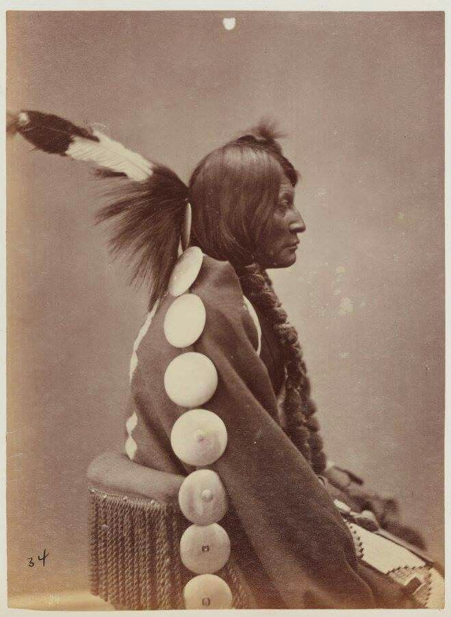 Big Mouth.  Arapaho. Photo by Alexander Gardner. ca. 1872.
