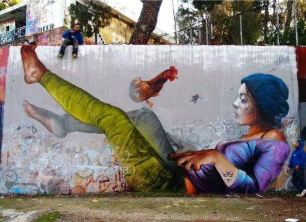 Street Art by Pichi and Avo, located in Athens, Greece
