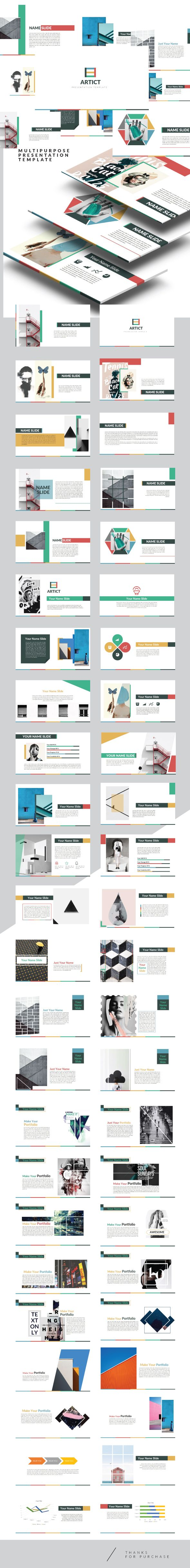 Artic - Multipurpose Powerpoint Creative template - Creative PowerPoint Templates