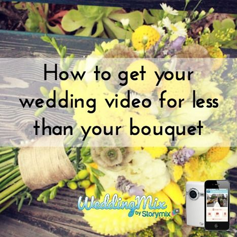 The # 1 budget wedding hack to get a wedding video! @WeddingMix is the only app and HD rental camera service that gives you an affordable, professional wedding video. Easily and affordably chronicle your special day, your way!
