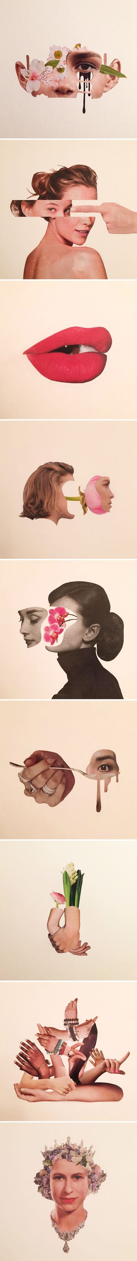 hand-cut collages by adam hale aka mr.splice