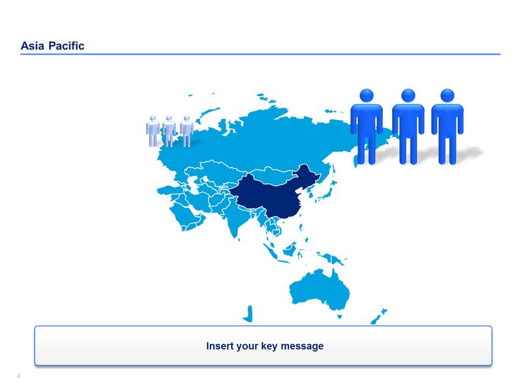 Editable Powerpoint Asia Pacific map template