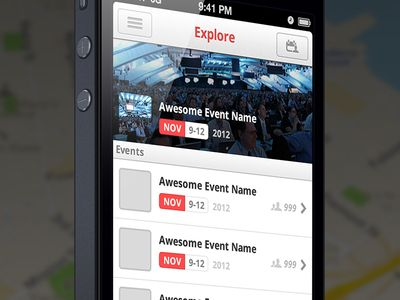 Explore - iPhone UI (@2x)